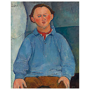 Portrait of Oscar Mietschaninoff BY AMEDEO MODIGLIANI