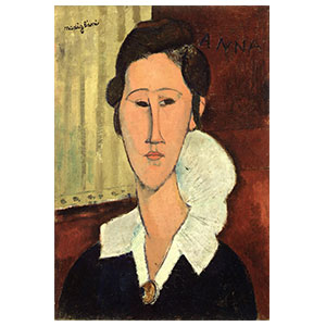 mme zborowska or woman with collar of femme a la collerette by amedeo modigliani