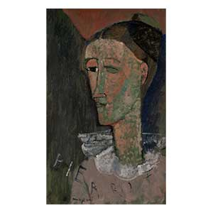self portrait? pierrot by amedeo modigliani