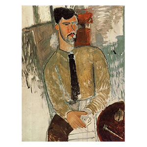 Henri Laurens seated at a table by amedeo modigliani