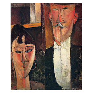 wife and husband, les maries by amedeo modigliani