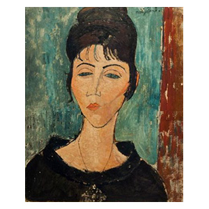 femme au pendantif, woman with pendant by amedeo modigliani