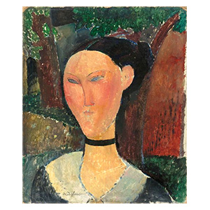 femme au ruban de velours or woman with velvet neck ribbon by amedeo modigliani