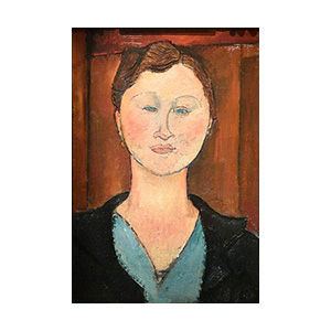 woman head with earring by amedeo modigliani