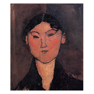 WOMAN HEAD, ROSALIA BY AMEDEO MODIGLIANI