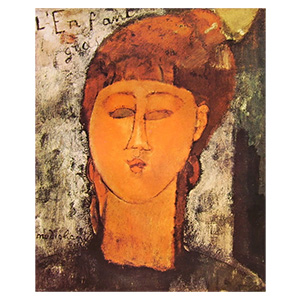 l enfant gras, louise the fat child by amedeo modigliani
