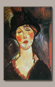 madame dorival or woman with hat by amedeo modigliani