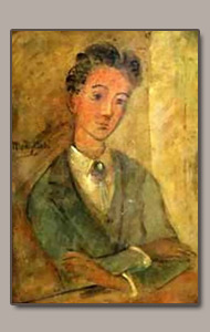 young man (raymond Radiguet?) by amedeo Modigliani