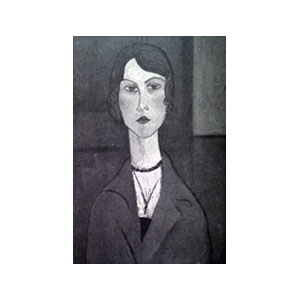 Woman bust with necklace amedeo modigliani