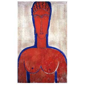 The great red bust  amedeo modigliani